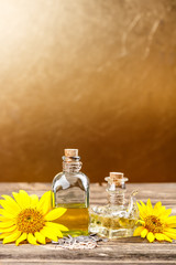 Sunflower oil and olive oil
