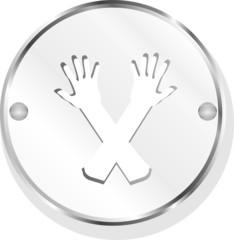 metal icon on white background