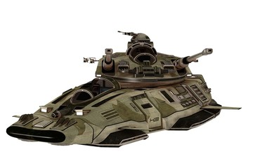 Futuristic antigravity tank