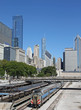 Downtown Chicago, commuter train station