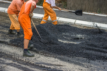 Road construction crew