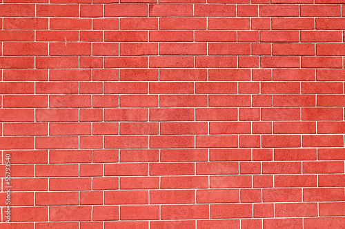 Texture of a red brick wall