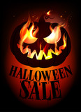 Halloween sale design.