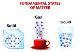 fundamental states of matter. solid; gas; liquid