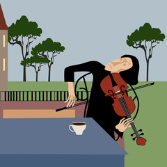 Violinist romantic