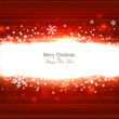 Beautiful Red Christmas background with snowflakes