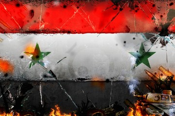syria - war conflict illustration