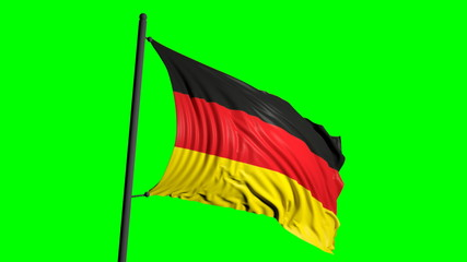 Germany flag on green background