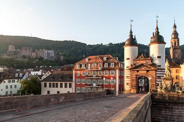 Heidelberg Alte Brücke mit Schloss