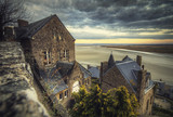 Coast views of France from Mont Saint Michel