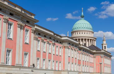 Dome of Potsdam and rebuilded city castle in Germany