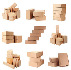 Collage of different boxes