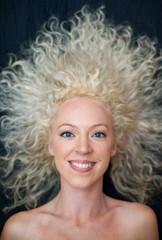pretty wild hair woman