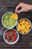 tasty nachos and dips