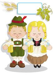 coppietta con birra