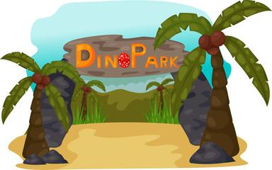 illustration of Dino Park Daytime