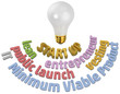 Start up entrepreneur light bulb