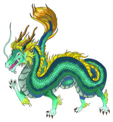 Beautiful Chinese dragon illustration