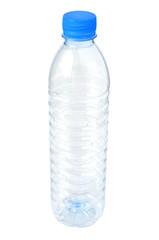 Empty plastic water bottle