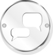 speech cloud on metal icon button