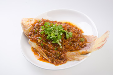 fish. steamed fish chinese style