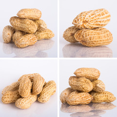 nuts on the white isolated background
