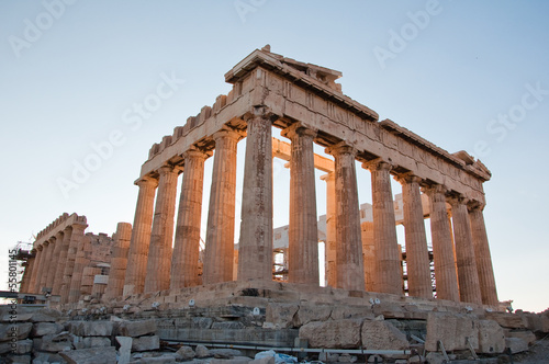 Staande foto Athene The Parthenon on the Athenian Acropolis, Greece.