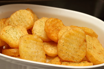Fried potatoes Warm hot in buffet