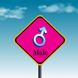 male-traffic sign