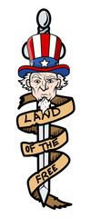 Land of the Free - Uncle Sam Vector Illustration