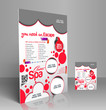 Vector Beauty Salon Flyer, Magazine Cover & Poster Template