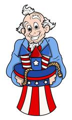 Celebration - Uncle Sam Cartoon Vector