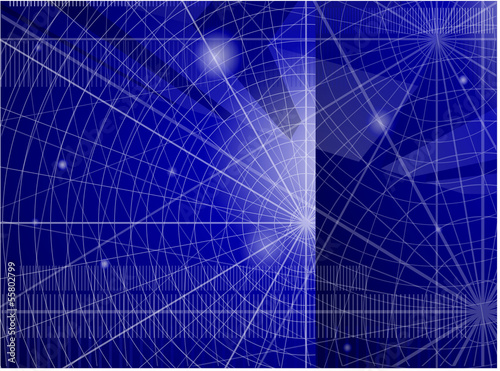Blue abstract. Vector background
