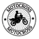 Fototapety Motocross stamp