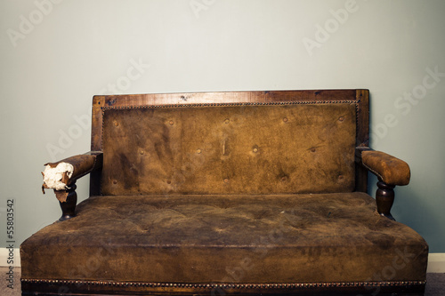 Old beaten up sofa