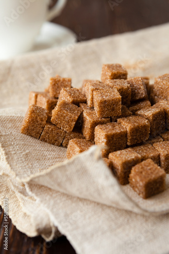refined cane sugar in the tissue