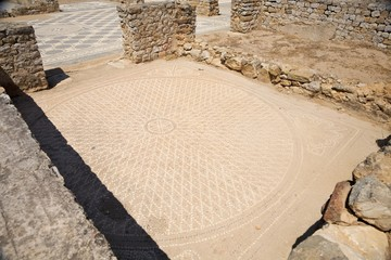 circle ancient mosaic floor
