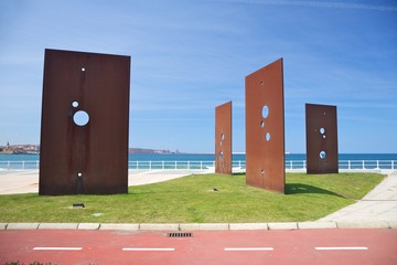 street monument in Gijon