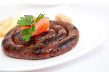appetizing grilled sausage