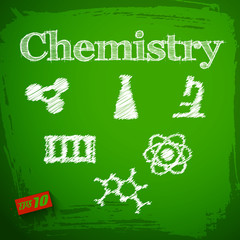 Back to school background. Chemistry