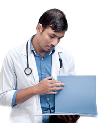 Medical Doctor Looking at Patient Chart