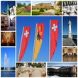 Geneva city collage, Switzerland