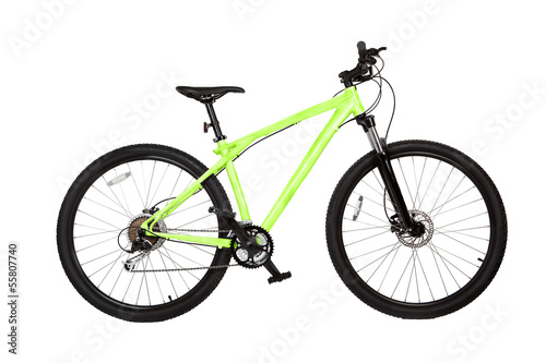 Mountain bike isolated on white