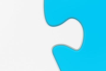 Puzzel Verbindung blau weiß 3D