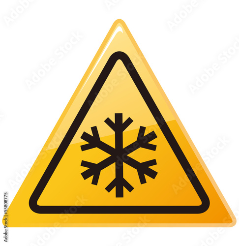 snow ahead warning sign Vector