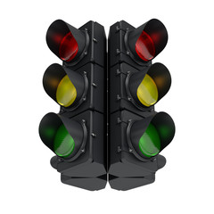 black traffic light