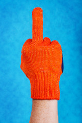 middle finger sign