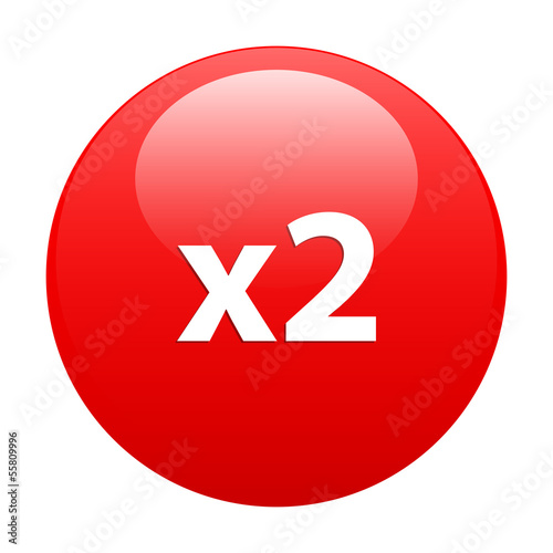 Button accelerated Internet 2x red