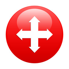 button arrow Internet icon red