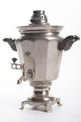 Russian samovar on a white background